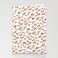 bows Stationery Cards featuring Bows by Jen Gottlieb