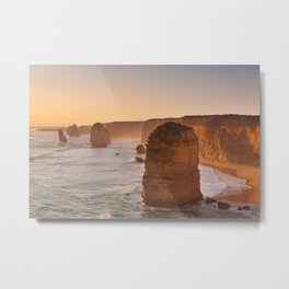 VII - Twelve Apostles on the Great Ocean Road, Australia at sunset Metal Print