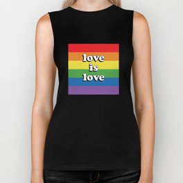 Love is Love Retro LGBT Biker Tank