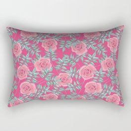 Roses Pink Rectangular Pillow