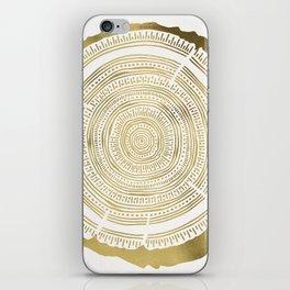 Douglas Fir – Gold Tree Rings iPhone Skin