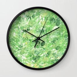 Spring Camo Green Print, Grass, Nature Wall Clock