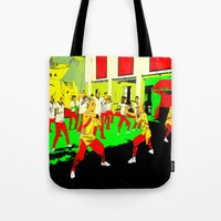 workout Tote Bags featuring Workout by lookiz