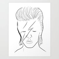 bowie Art Prints featuring Bowie by Luster