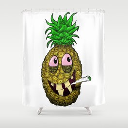 High Pineapple Shower Curtain