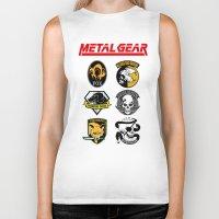metal gear Biker Tanks featuring Metal Gear by Khaled