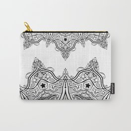Stars and Stripes - Patriotic Mandala - Black and White - 'Merica! Carry-All Pouch