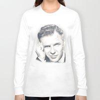 frank sinatra Long Sleeve T-shirts featuring Frank Sinatra by Heather Andrewski
