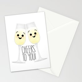 Cheers To You! Champagne Stationery Cards