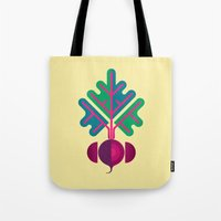 vegetable Tote Bags featuring Vegetable: Beetroot by Christopher Dina