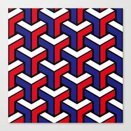 Tricolore Geometric Canvas Print
