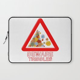 Warning tribbles Laptop Sleeve