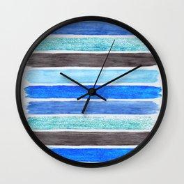 Black 'n Blue 'n Aqua Wall Clock