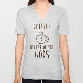 COFFEE NECTAR OF THE GODS T-SHIRT Unisex V-Neck
