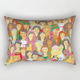 Pattern #75 - The gaze of sisterhood Rectangular Pillow