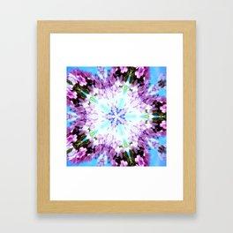 Purple Flower Power Series Framed Art Print