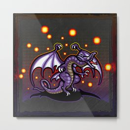 Final Fantasy Bahamut Metal Print