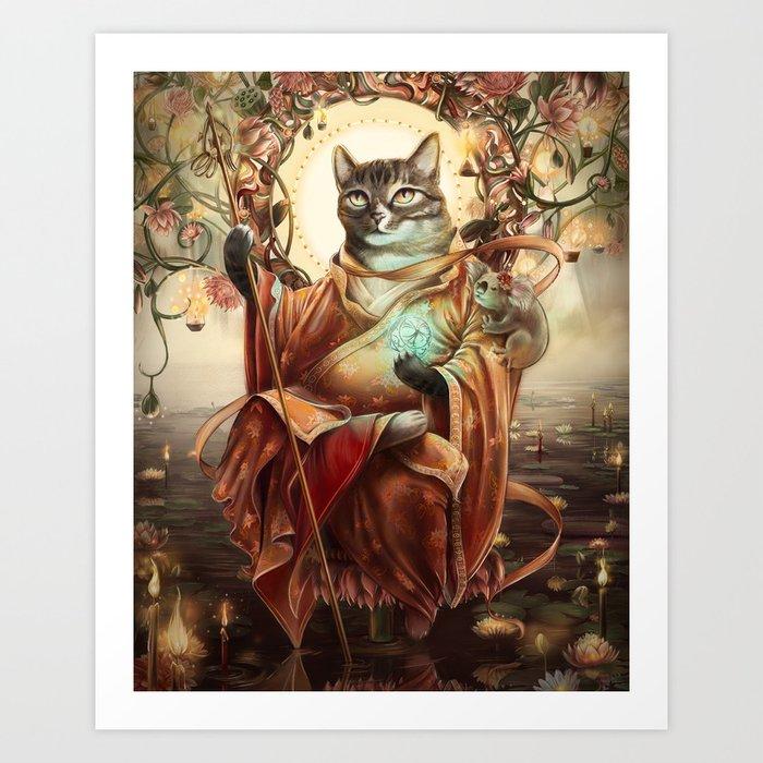 Jizo Bodhissatva Art Print