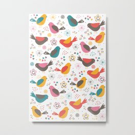 Quirky Chicks Metal Print
