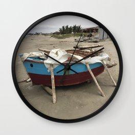 Sunday Boat  Wall Clock