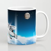 titan Mugs featuring S.S. Titan by AndrewDMorgan
