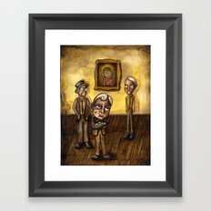 The Three Framed Art Print