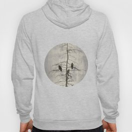 Full Moon and Crows Hoody