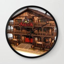 Cartoon Western Saloon Wall Clock