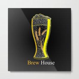 Brew Beer Metal Print