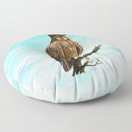 Wahlberg's Eagle Floor Pillow