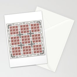 Graph 4 on Grey Stationery Cards