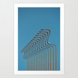 of light poles VII Art Print