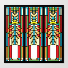 FL Wright Cubic Design Canvas Print