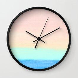 Retro Rainbow Painting Wall Clock