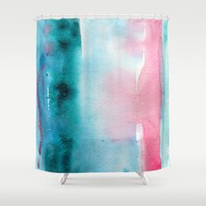 Turquoise love Shower Curtain
