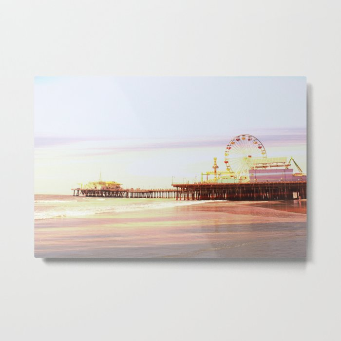 Santa Monica Pier Sunrise Metal Print - sold as metal print and art print
