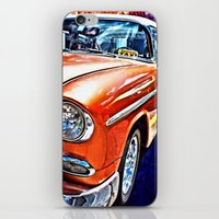 cuba iPhone & iPod Skins featuring Cuba Taxi by Brian Raggatt