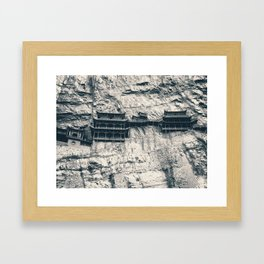 Hanging Temple in Datong Framed Art Print