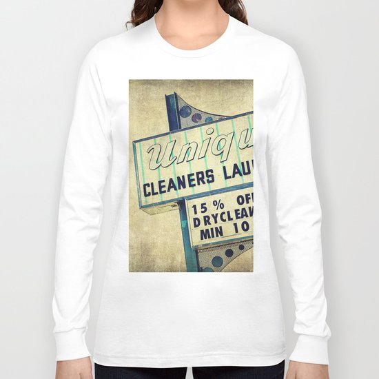 Unique Laundry Sign Long Sleeve T-shirt