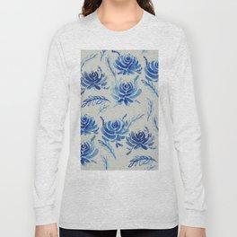 blue succulents Long Sleeve T-shirt