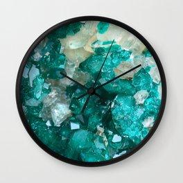 Teal Rock Candy Quartz Wall Clock