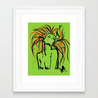 her art Framed Art Prints featuring Her by WDeluxe