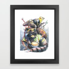 Trash Panda  Framed Art Print