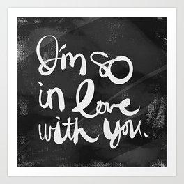 So In Love (Charcoal) Art Print
