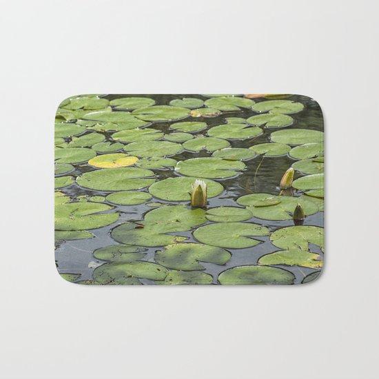 Lily pad sunshine Bath Mat