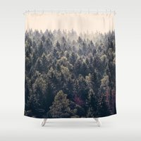 surrealism Shower Curtains featuring Come Home by Tordis Kayma