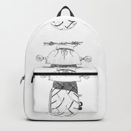 cycle drawing, rear view Backpack