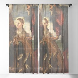 "Tintoretto (Jacopo Robusti) ""Virgin with Child and Saints"" Sheer Curtain"