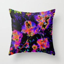 Painted Burdock Throw Pillow