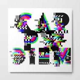 Carpe Diem #typography #lettering #glitchart #buyart #society6 Metal Print